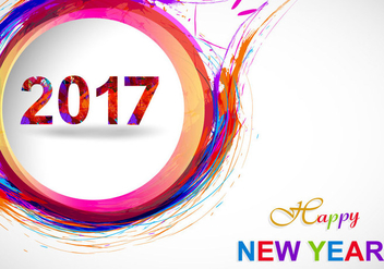 Happy New Year 2017 On Grey Background - Free vector #354911