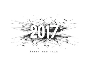 2017 New Year Greeting Card Design - vector gratuit #354961