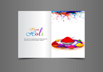 Beautiful Happy Holi Greeting Card - Kostenloses vector #354971