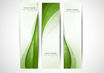 Bright Green Wave Header - Free vector #355041