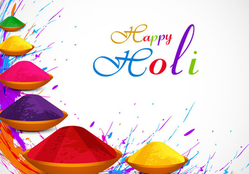 Colorful Holi Powder - vector gratuit #355051