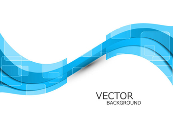 Abstract Blue Wave - vector gratuit #355111