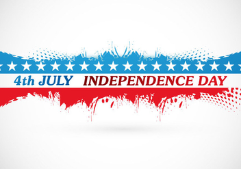 4th July Independence Day Card - Kostenloses vector #355121