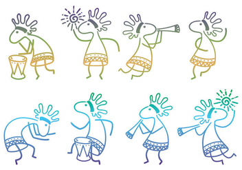 Kokopelli Collection Vectors - vector #355161 gratis