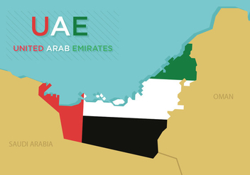 UAE Map Vector - vector #355181 gratis