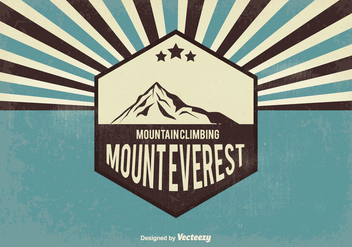 Retro Everest Vector Illustration - vector gratuit #355221