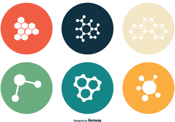 Nanotechnology Vector Icon Set - Free vector #355231
