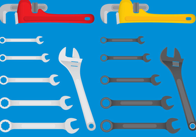 Colorful Mechanic Tool Vector - vector gratuit #355241