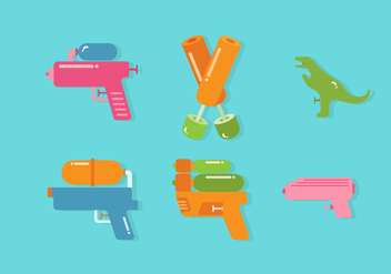Vector Water Gun - vector gratuit #355261