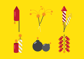 Vector Fire Crackers - vector gratuit #355301