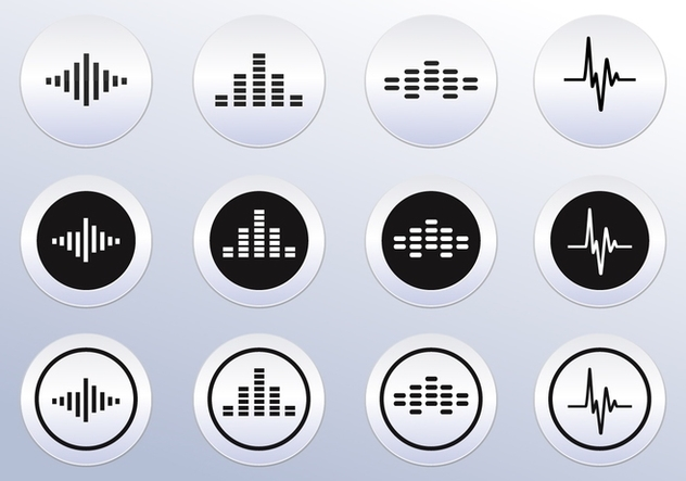 Free Vector Sound wave icons - vector gratuit #355331