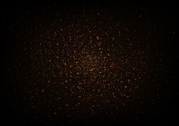 Free Strass Vector, Gold Glitter Texture On Black Background - Kostenloses vector #355421