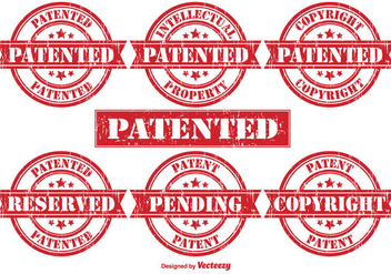 Patent Vector Rubber Stamps - Free vector #355441