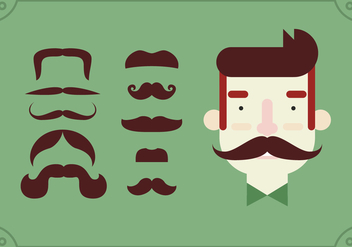 Movember Pin On Moustache Set - vector #355451 gratis