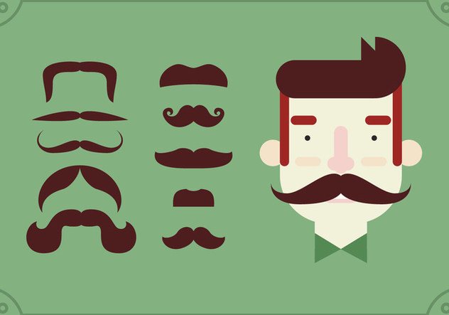 Movember Pin On Moustache Set - Kostenloses vector #355451