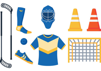 Floorball Equipment Vectors - бесплатный vector #355461