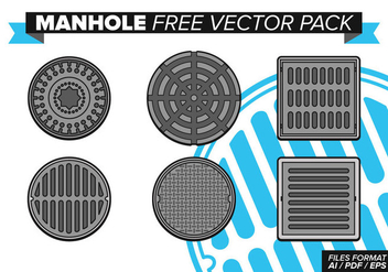 Manhole Free Vector Pack - vector gratuit #355481