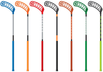Floorball Stick Vector Collection - бесплатный vector #355491