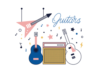 Free Guitars Vector - бесплатный vector #355581