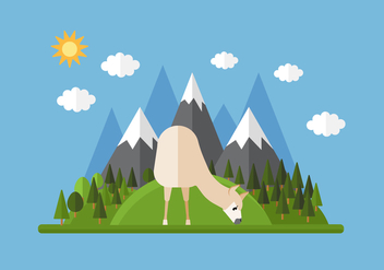 Vector Mountain Llama - Free vector #355661