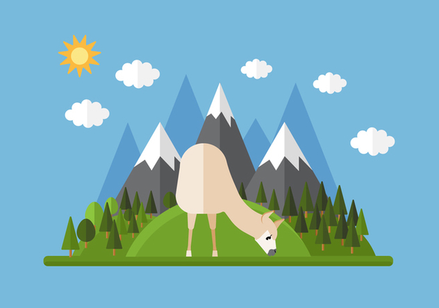 Vector Mountain Llama - vector #355661 gratis