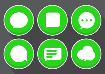 Vector Message Icons - vector gratuit #355731