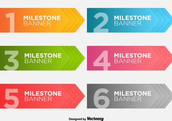 Milestone Banners Vector Template - Free vector #355741
