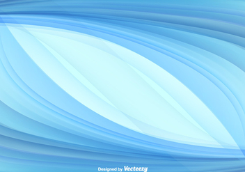 Blue Abstract Swish Vector Background - vector gratuit #355781