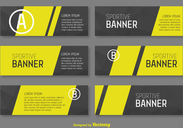 Corporative Banners Vector Template - Free vector #355791