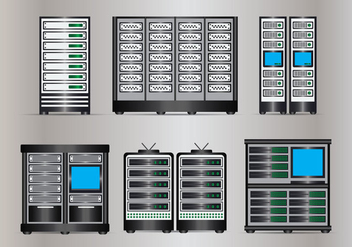 Server Rack Vector - vector gratuit #355851
