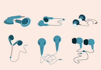 Simple Ear Buds Vector - vector gratuit #355861