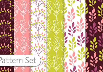 Floral Pattern Set - Kostenloses vector #355941