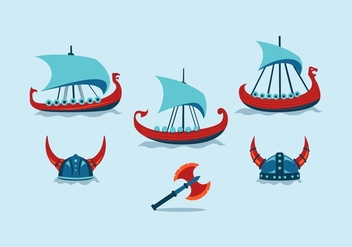 FREE VIKING SHIP VECTOR - vector gratuit #355971