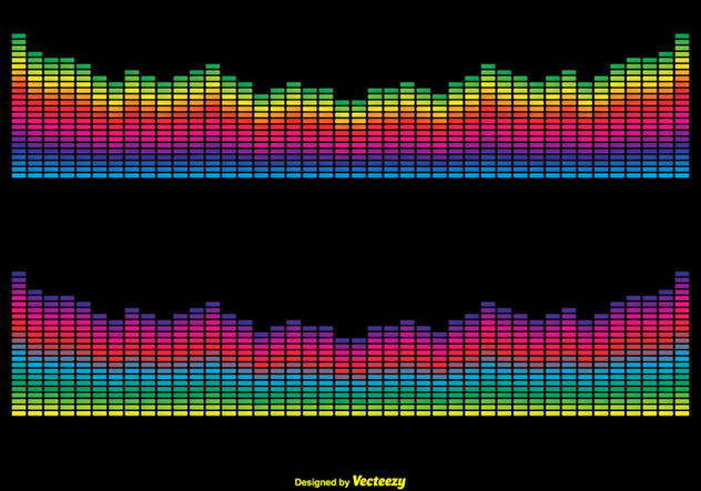 Colorful Vector Sound Bars Illustration - Kostenloses vector #356041