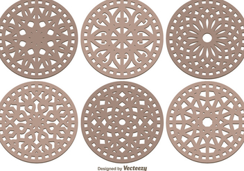 Laser Cut Decorative Vector Pack - vector gratuit #356111