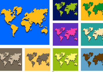 Abstract Worldmap Vector Icons - vector #356161 gratis
