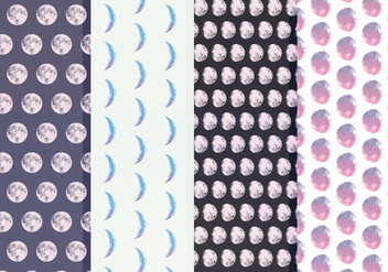 Free Moon Phase Vector Patterns - Kostenloses vector #356211