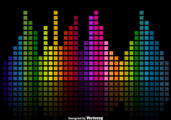 Colorful Music Sound Bars Equalizer Vector Background - Kostenloses vector #356281