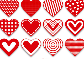Set of Modern and Cute Heart Vectors - vector #356301 gratis