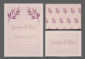 Free Wedding Invitation - Kostenloses vector #356361