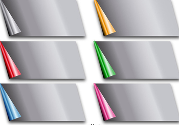 Vector Metallic Paper Corner Folds - Free vector #356381