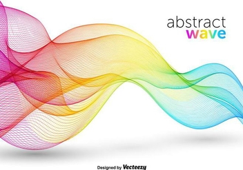 Colorful Abstract Wave Vector - vector gratuit #356411