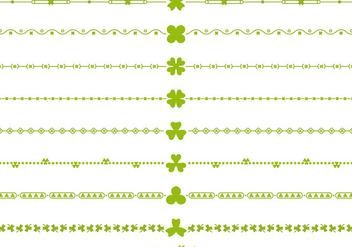 Green Vector Irish Borders and Divider Vectors - бесплатный vector #356421
