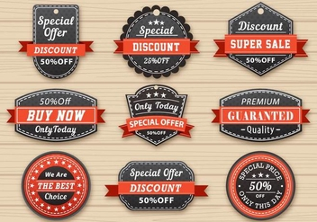 Vintage Sale Labels - vector gratuit #356491
