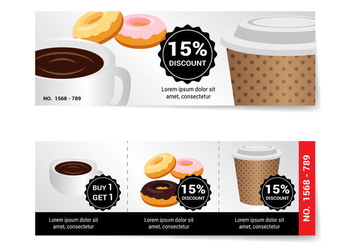 Free Coffee Voucher Vector - vector gratuit #356531