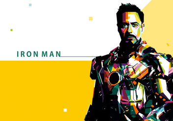 Iron Man Vector Portrait - Free vector #356551