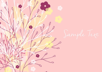 Decorative Floral Wallpaper - vector #356561 gratis