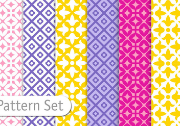 Colorful Pattern Set - vector gratuit #356571