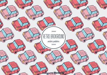Retro Car Vector Pattern Background - Free vector #356591