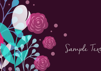 Floral Background Design - vector #356641 gratis